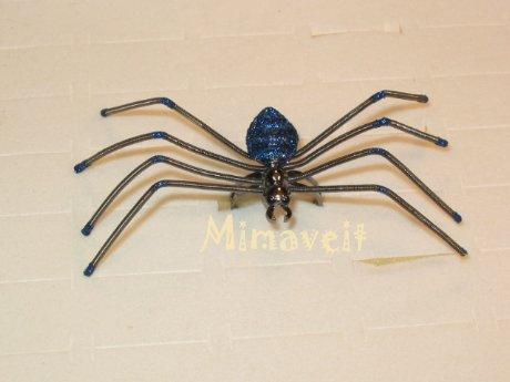 Spinnenring blau