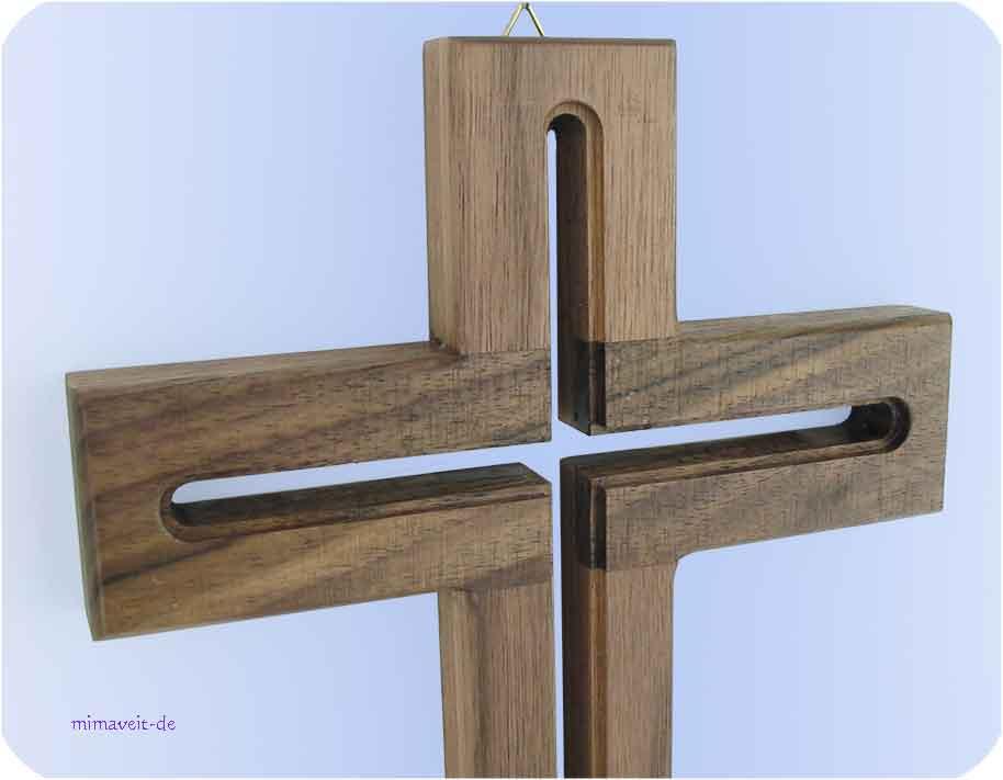 holzkreuz wandkreuz holz kreuz aus nussbaum hochzeit geschenk hauseinweihung ebay. Black Bedroom Furniture Sets. Home Design Ideas