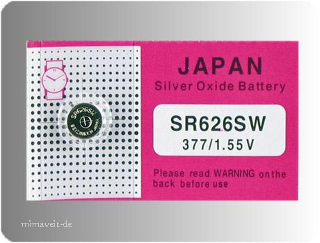 Batterie AG4 --Silberoxyd --
