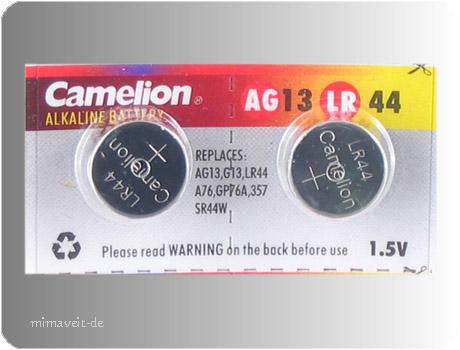2 Batterie AG13 -- Alkaline --