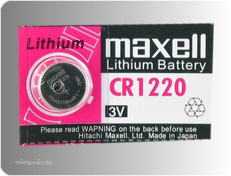 Batterie Maxell CR1220 --Lithium--