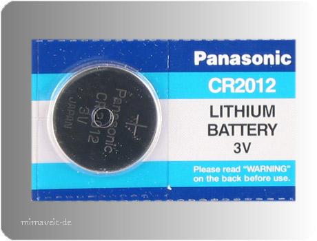 Batterie Panasonic CR2012 --Lithium--