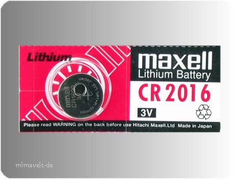 Maxell CR2016 --Lithium--