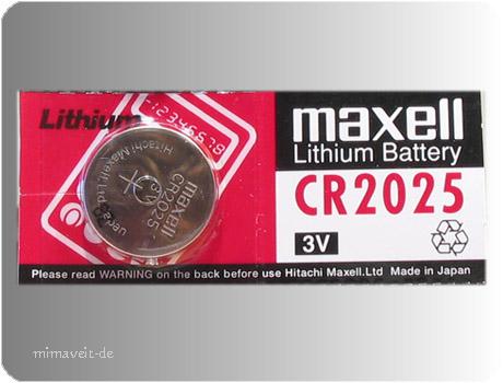 Maxell CR2025 --Lithium--