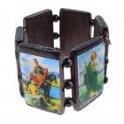 Holzarmband Armband aus Holz mit Heiligen Escapulario