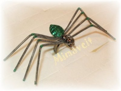 Spinnenring grün