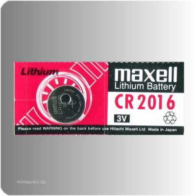 Batterie Maxell CR2016 --Lithium--