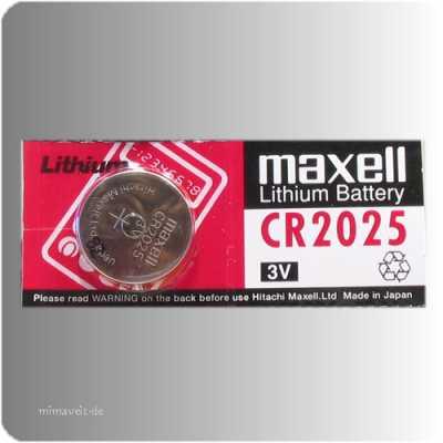 Batterie Maxell CR2025 --Lithium--
