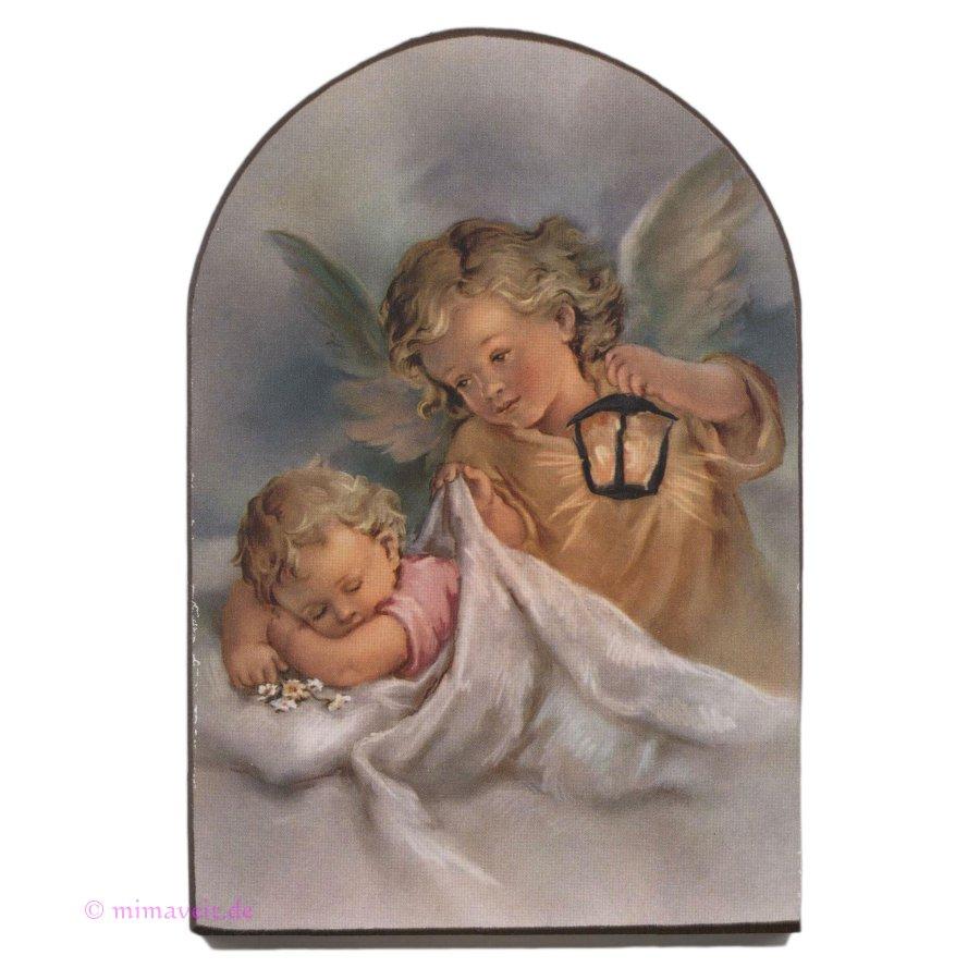 Schutzengelbild Schutzengel mit Baby Gute Nacht