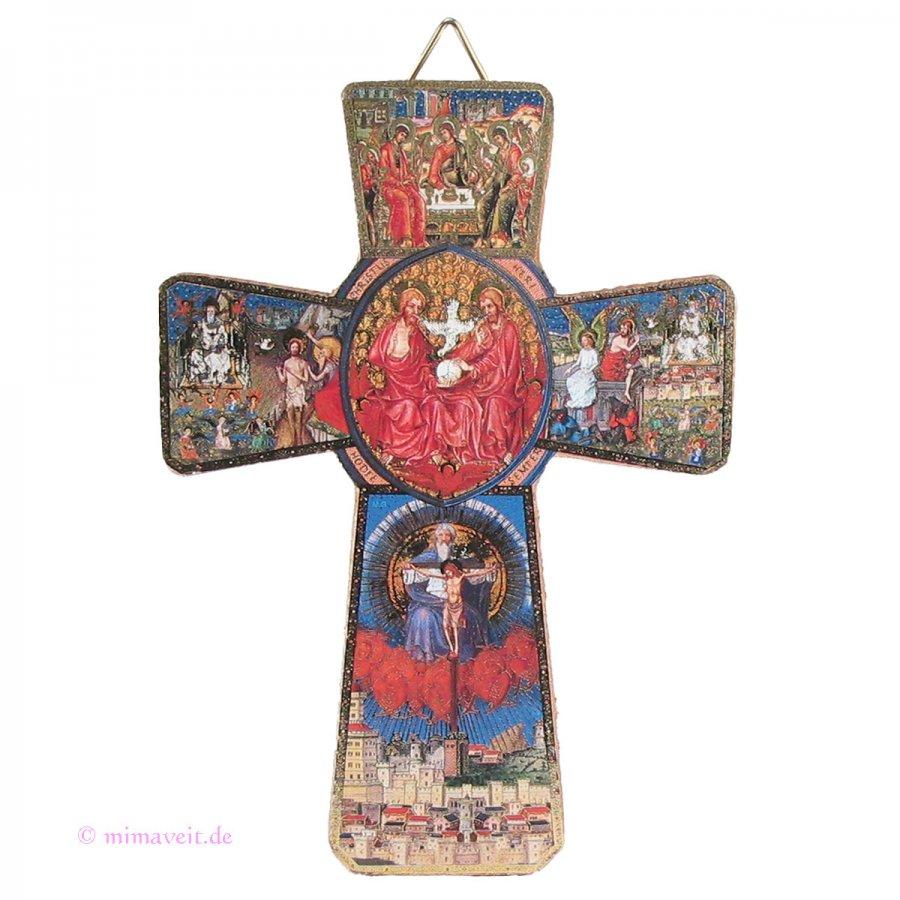 Holzkreuz mit der Heiligen Dreifaltigkeit