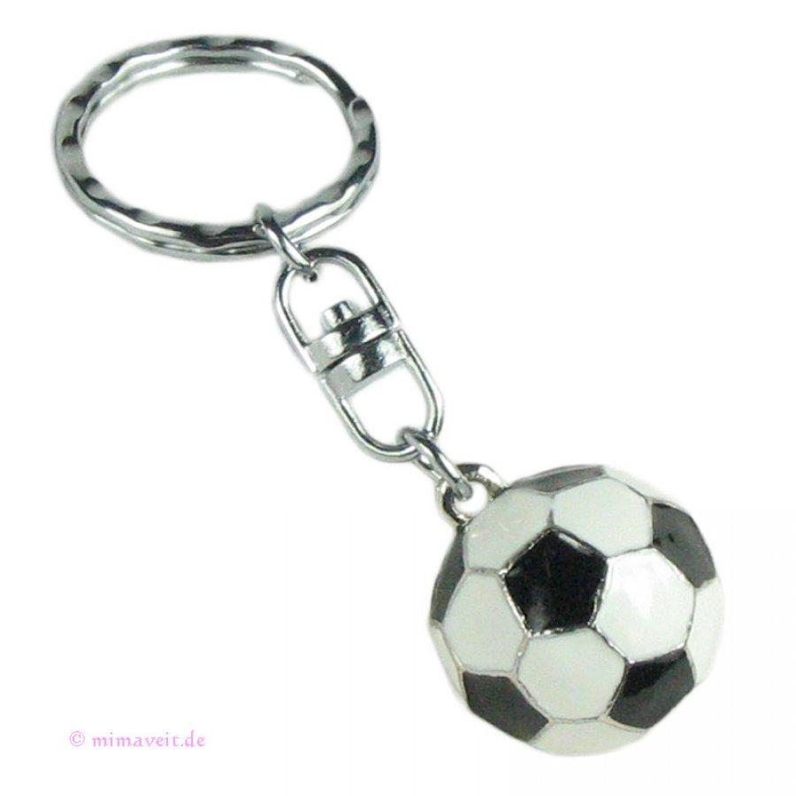 Schlüsselanhänger Fußball schwarz weiss