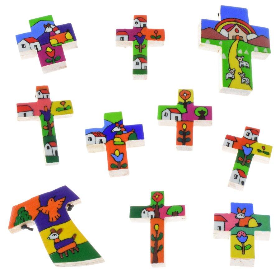Umhängekreuz Kette mit Holz Kreuz El Salvador