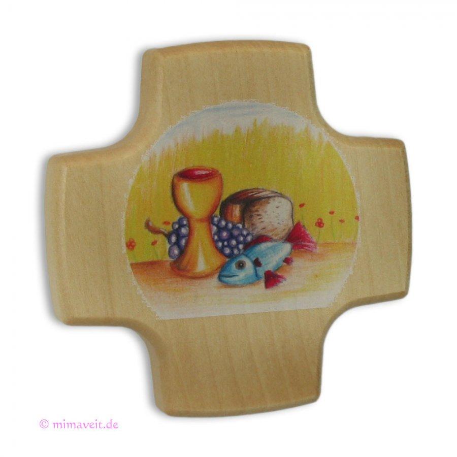 Kreuz zur Kommunion - Gabenbereitung - aus Holz