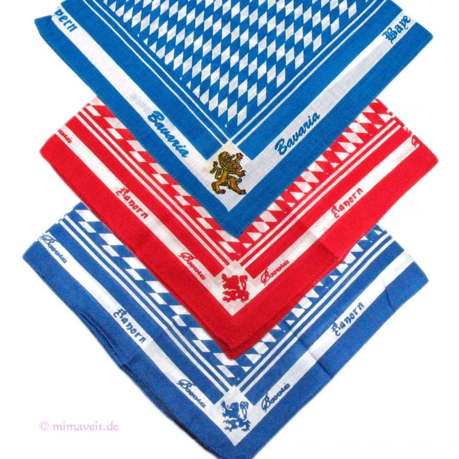 Halstuch Trachtentuch  - Schnupftuch Bayerische Rauten