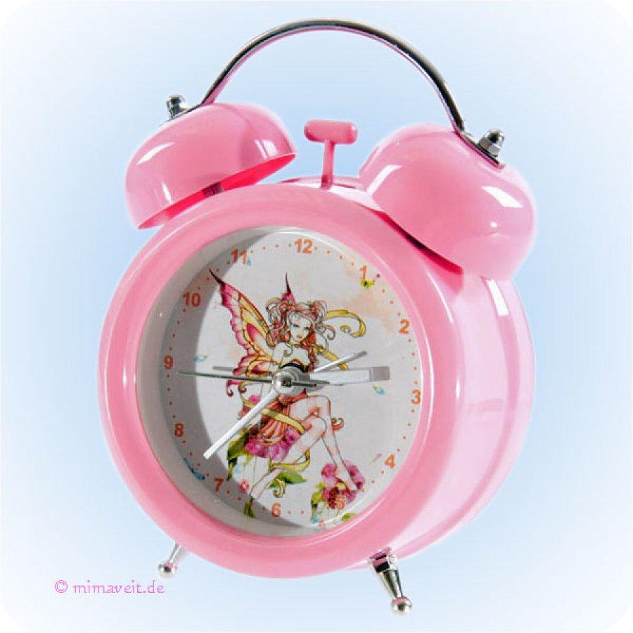 kinderwecker rosa mit roter fee rosa wecker f r kinder. Black Bedroom Furniture Sets. Home Design Ideas