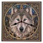Wanduhr Keltischer Wolfskopf