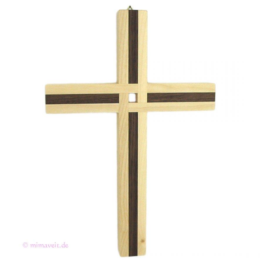 12 Apostel Kreuz aus Ahorn und Nussbaum