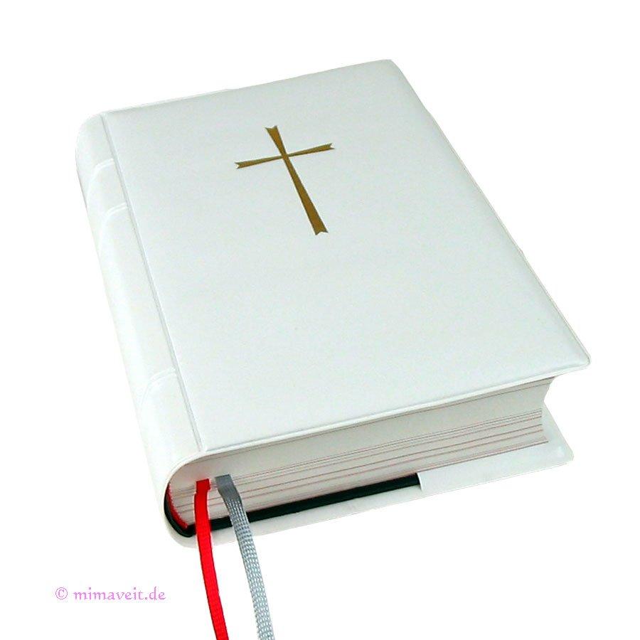 Gotteslobhülle weiss aus Kunststoff für das neue Gotteslob