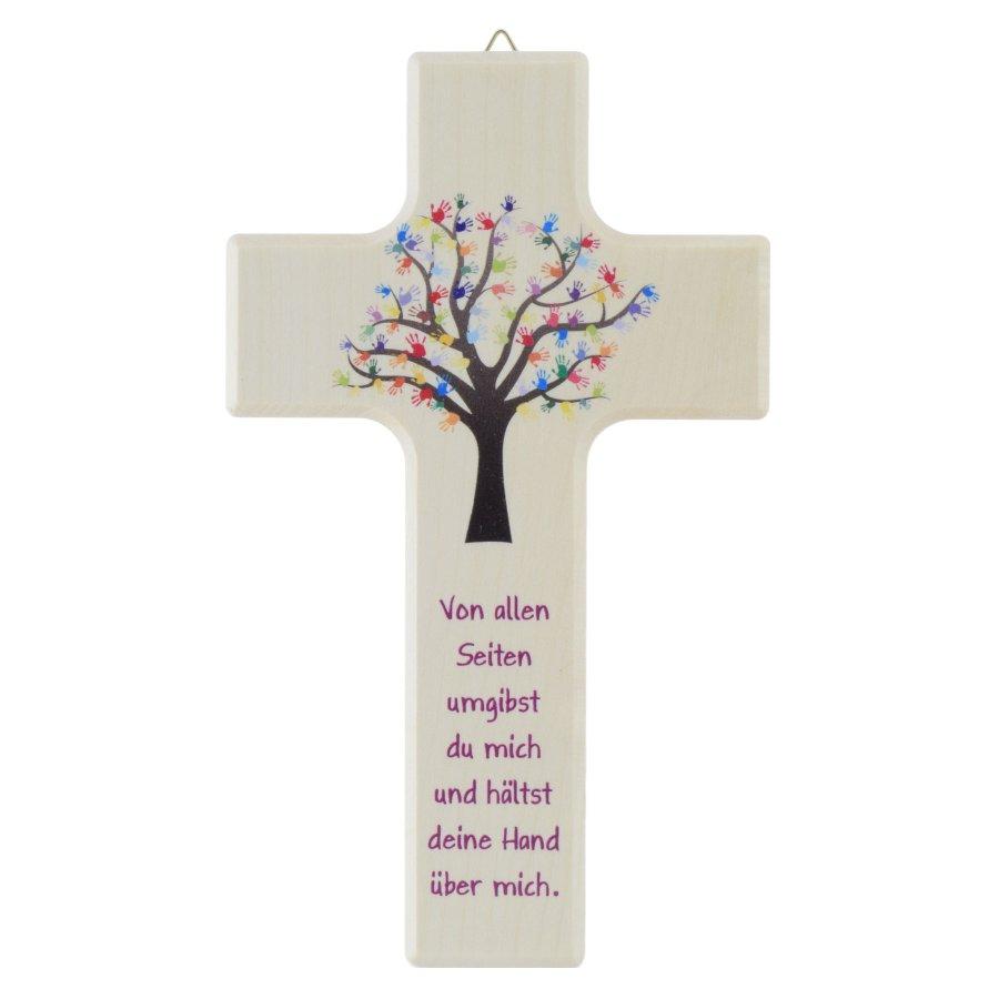 Kreuz Kinderkreuz Baum mit bunten Händen