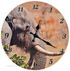 Wanduhr Elefantenkopf