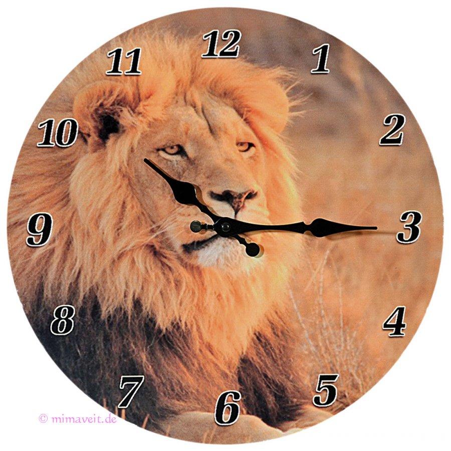 Wanduhr Uhr Löwe
