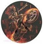 Wanduhr Hell Rider Skelett