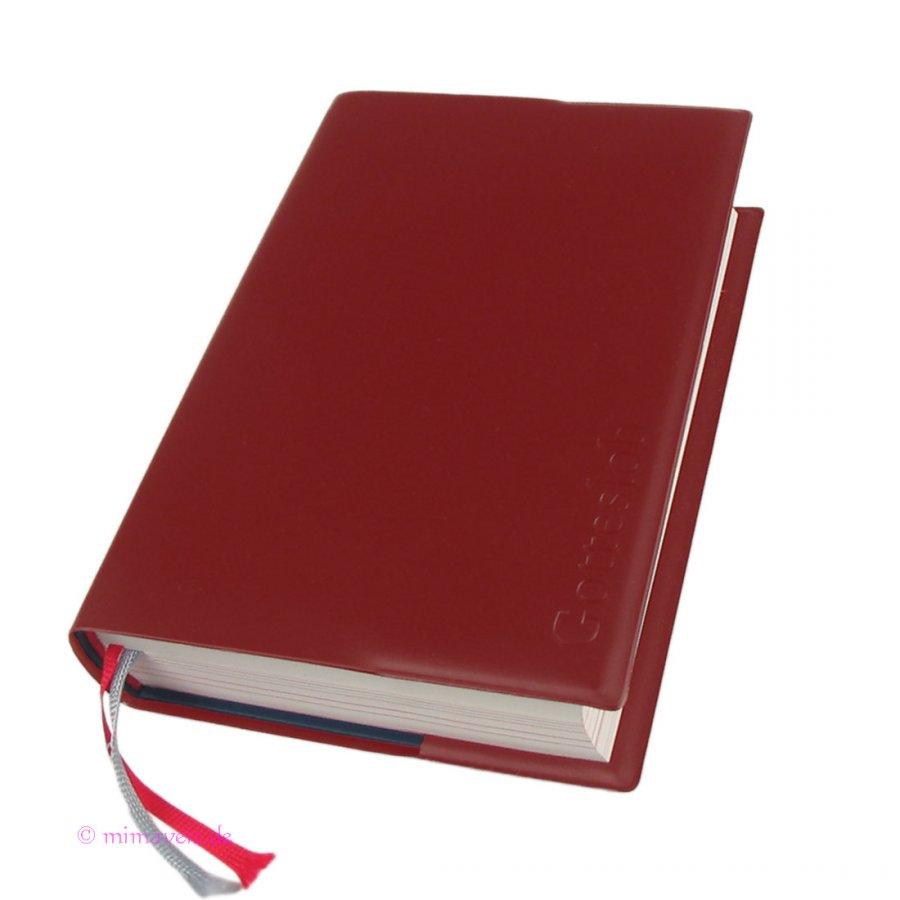 Gotteslob Hülle Kunststoff rot mit Prägung für das neue Gebetbuch