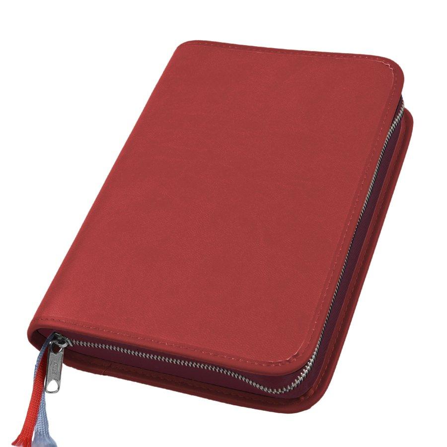 Gotteslob Hülle Appleskin Kunstleder rot mit Reißverschluss