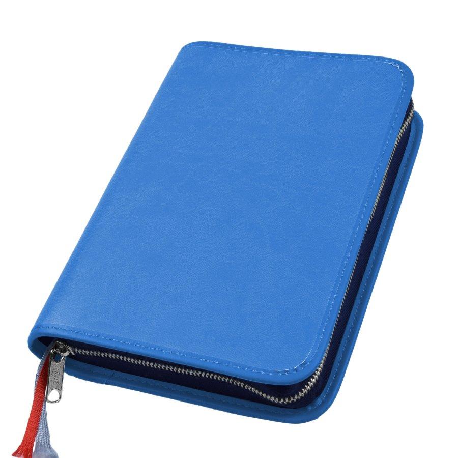 Gotteslob Hülle Appleskin Kunstleder blau mit Reißverschluss