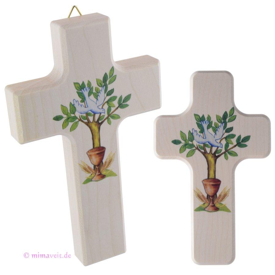 Kreuz Kommunion zur Gabenbereitung mit Baum, Kelch, Hl. Geist
