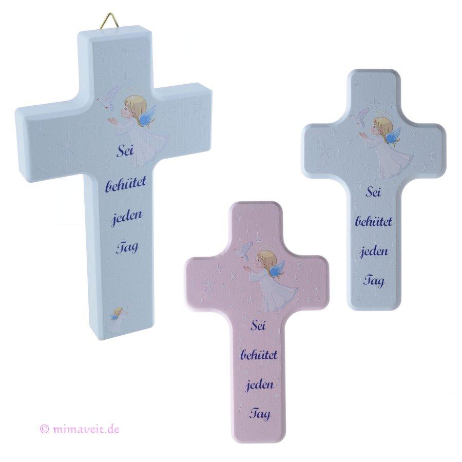Kinderkreuz Schutzengelkreuz Schutzengel Taufkreuz rosa