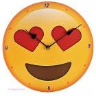 Wanduhr Emotive Herz Augen Emoji Emoties Emoty Smiley