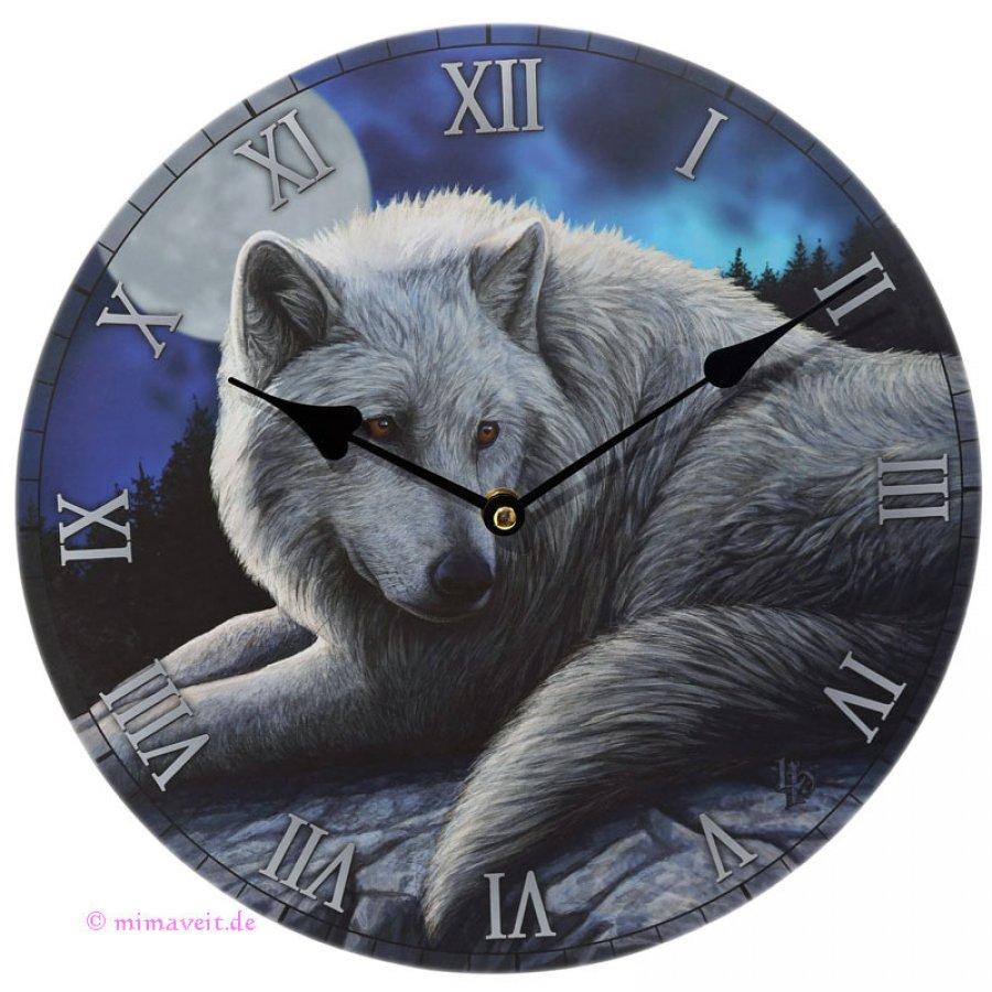 Wanduhr Wächter des Nordens Wolf