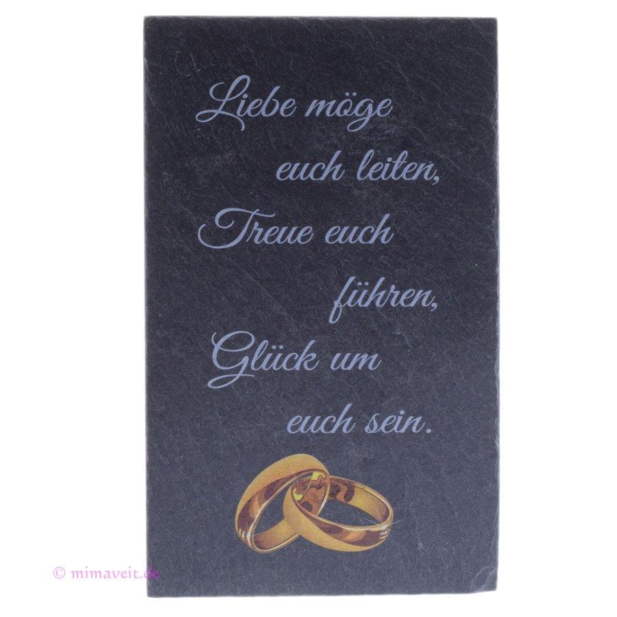 Bild Tafel aus Schiefer mit goldenen Ringen