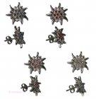 Trachten-Ohrringe Edelweiß mit Swarovski-Kristallen