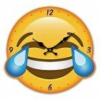 Wanduhr Emotive Augen LOL Tränen lachen Emoji Emoties Emoty Smiley