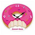 Wanduhr Uhr Donut Zeit Fast Food