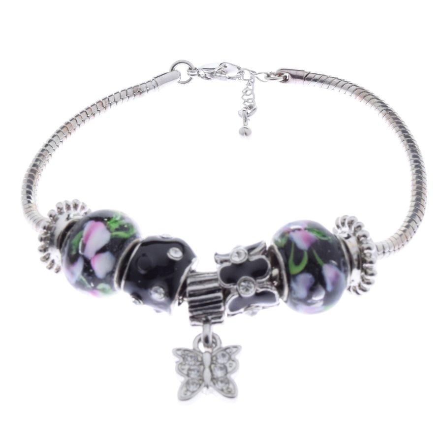 Armspange Armreif Armband silber mit bunten Beads zum Austauschen