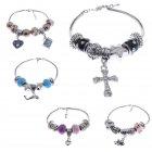 Armband Schlangenarmband silber mit bunten Beads zum Austauschen