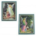 Schutzengelbild Bild mit Engel und Kindern