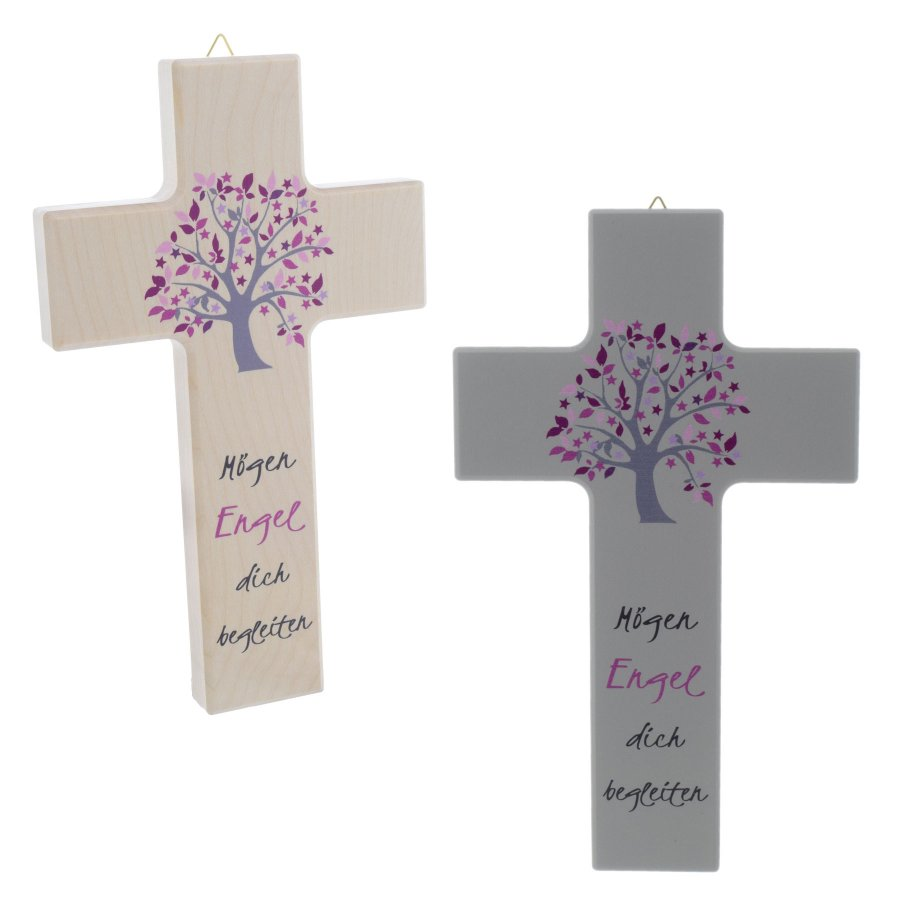 Holzkreuz Holz Kreuz Mit Baum Mögen Engel Dich Begleiten